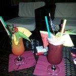 Coktails au piano bar de l'hotel