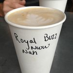 Order the Royal Buzz! Impressed that they even made a to-go order look pretty!