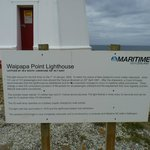 Information board outside the lighthouse.