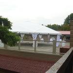 """Vista"" towards deck-patio from room 108, Main Lodge"