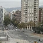 Plaza de las Cortes Catalanas en donde se encuetra la estación de Sants