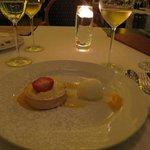 Gorgonzola ice cream with lemon pie. Simply delicious!