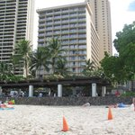 From Waikiki beach looking back at the hotel