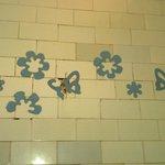 carrelages mur de la baignoire
