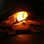 Our pizzas cooking!