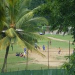 Soccer field from our balcony