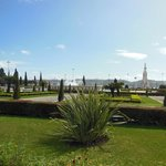 The park leading to the Monument of Discovery and Tower of Belem