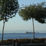 A view of the Sea of Marmara from outside the hotel Kalyon