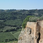 From the top of the hillside Orvieto