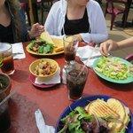 Cafe Kevah food: Panini sandwiches & caesar salad