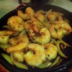 Shrimps with garlic at Restaurante Taiwan
