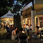 Java night outside seating