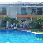 Área de piscina e recreativa