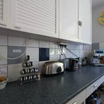 Kitchen in main house with all home comforts including espresso machine