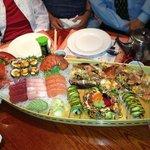 Delicious sashimi and sushi