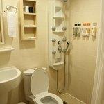 'Fancy' shower in the bathroom