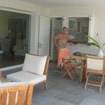 Our exterior kitchen/lounge area