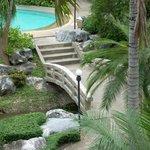 calming garden area