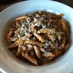 Beef boullaise (sp?) penne pasta