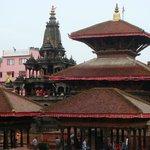 the view of Patan Durbar Square from Casa Pagoda.