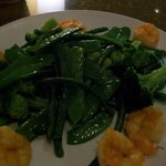 Green Wok with shrimp they will make it to order.. I get my sauce on the side!