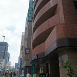 View of Nishitetsu Inn coming from Shinjuku JR station