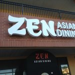 Zen Asian Dining is located on the lower level of a shopping center.