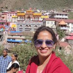 Badrinath temple in the back