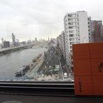 こちら側は墨田川。