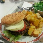 Fresh ground burger
