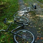 The bikes laid down and said they would not go uphill one more foot today.