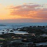 Moffat Beach - pools at low tide - dawn