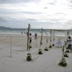 Our wedding decoration by Friday's @Friday's beach