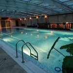 6th floor heated Pool with female and male saunas nearby.