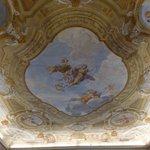 Le plafond de la salle des petits déjeuners