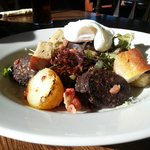 Potato and black pudding salad