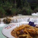 nothing beats having original lao somtum by the waterfalls
