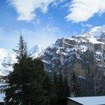 Aussicht vom Zimmer Seite Jungfraumassiv