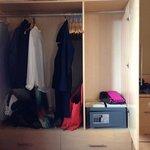 safe in the closet, plenty of hangers