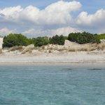 acqua turchese e dune bianche