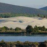 stagno e visuale delle dune