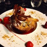 Dessert à base de fraises