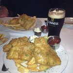 Awsome fish and chips and of course you need a guinness too!