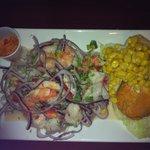 Small fish and shrimp ceviche