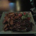 chicken in pepper sauce at luna bar