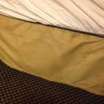 Dirty bed skirt