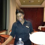 A very knowledgeable waitress, excellent call on the wine