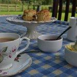 A welcome cream tea