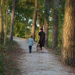 Family walk on one of the trails
