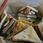Chicken club sandwich by Vangelis